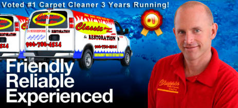 Classic Carpet Care and Restoration was voted number 1 carpet cleaner